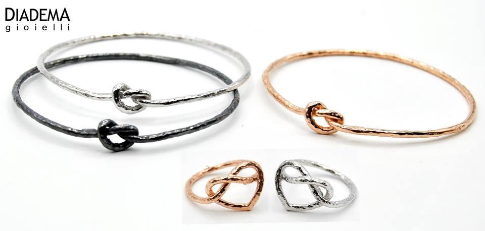 bracciali e anelli con nodo