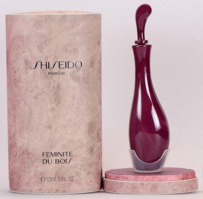 bottiglia profumo shiseido con scatola