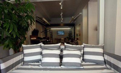Rivestimento cuscini divani a righe
