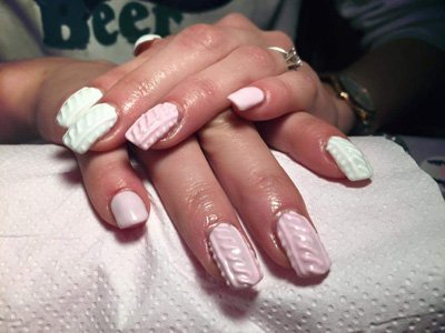 Nail ricostruzione unghie bianche