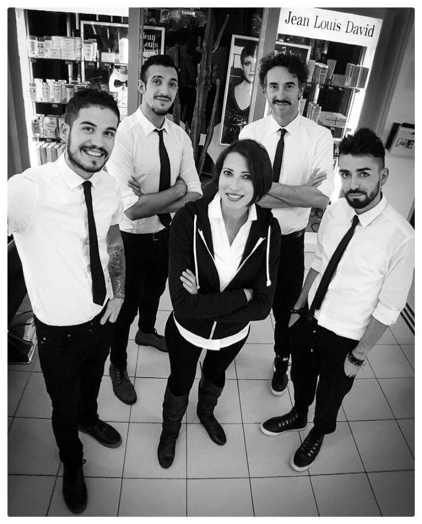Gruppo di persone_foto in bianco e nero