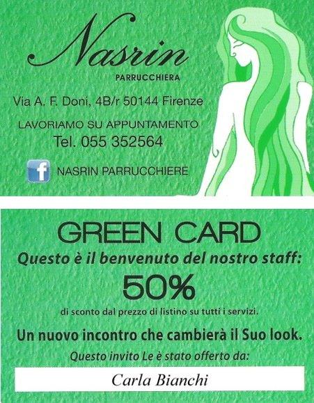 Carta fedelta verde