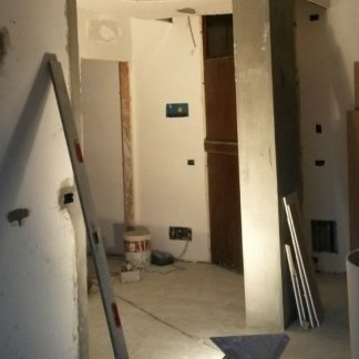 dei lavori di ristrutturazione in un appartamento