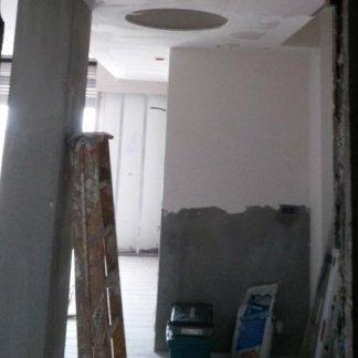 parete in costruzione