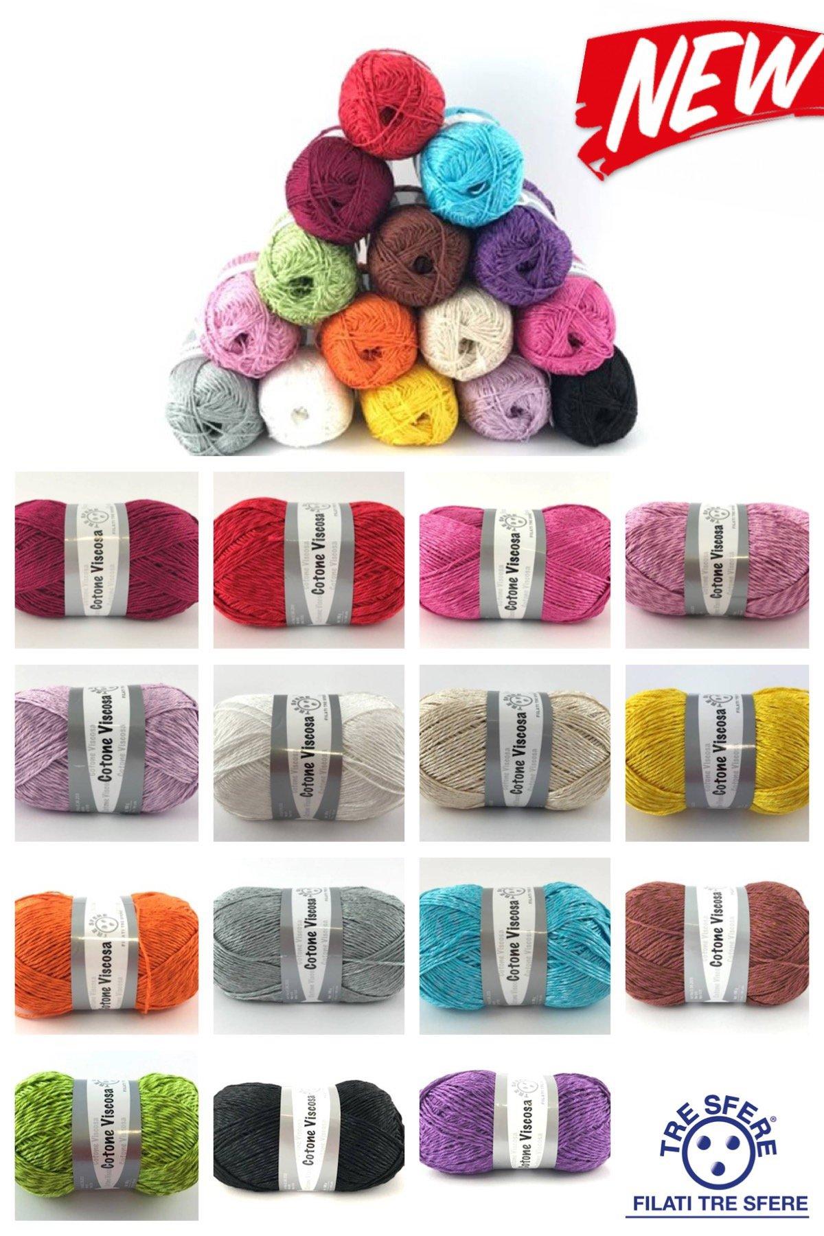 Filati Tre Sfere: cotone natural, filo di scozia, cotone per uncinetto