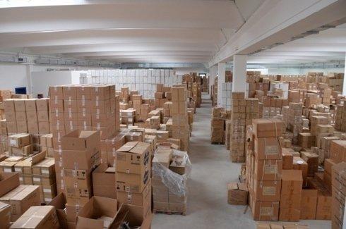 magazzino per l'importazione