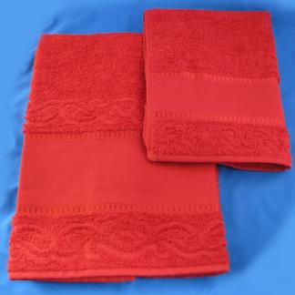 Asciugamano con ospite da ricamo
