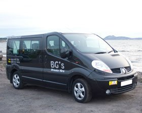 Taxi services - Edinburgh, Scotland - BG'S Private Hire Service - Minibus
