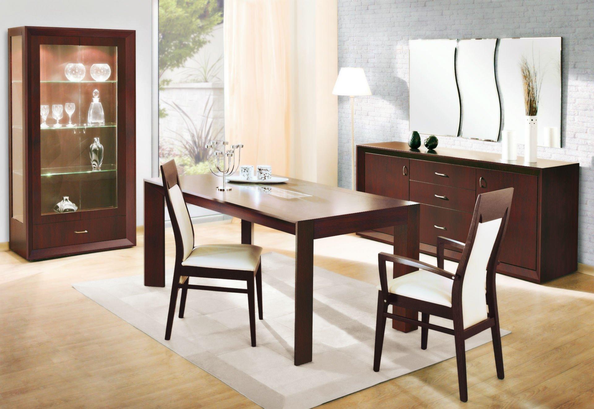 tavolo, sedia e madia in ciliegio