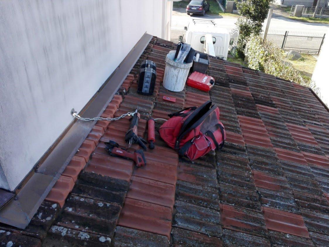 Installazione Linea Vita presso Ravenna (RA), per uso residenziale.