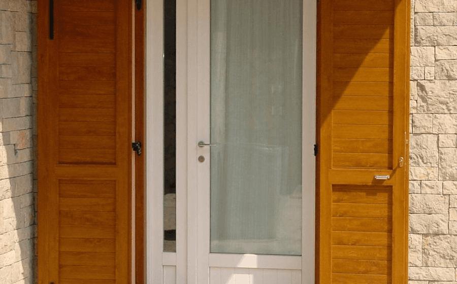 Persiane e porta