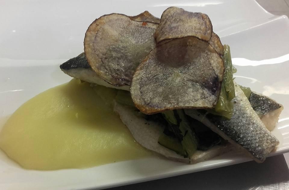 il piatto a base di pesce