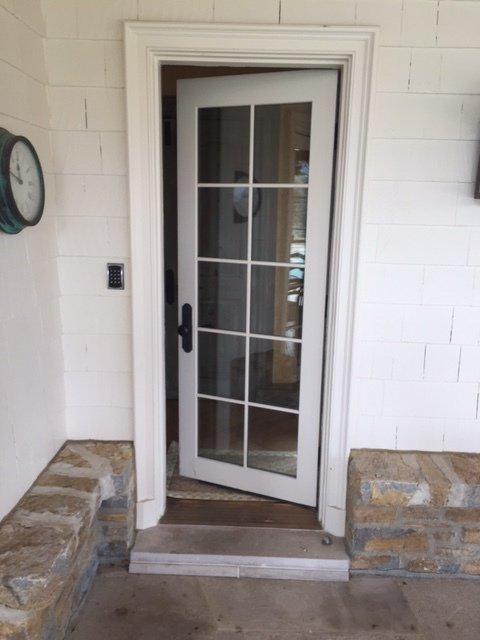 Newly installed residential front door in Cincinnati