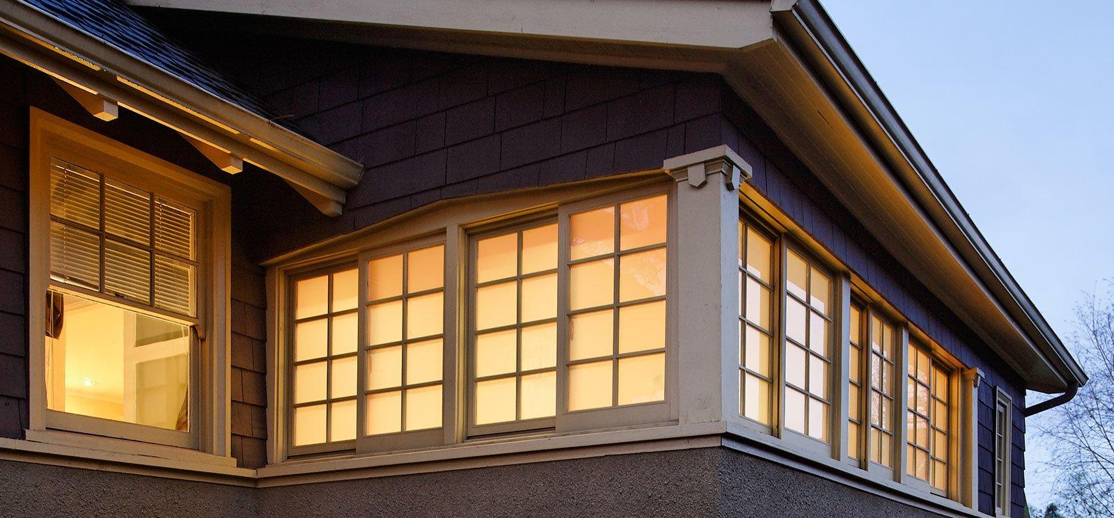 Exterior of a residential custom window project in Cincinnati