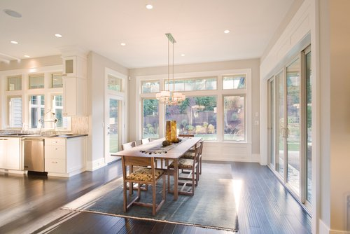 Beautiful dining room with an outstanding custom window installation in Cincinnati