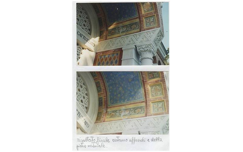 Risulato finale restauro affreschi e della pietra naturale