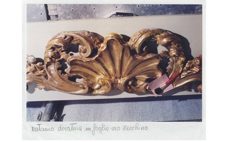 Restauro doratura in foglio oro zecchino