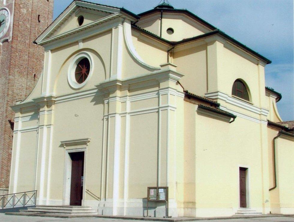 restauro pittorico esterno Chiesa San Alberto Zero Branco