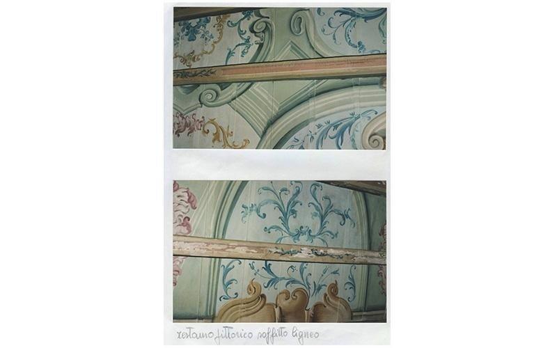 Restauro pittorico soffitto ligneo