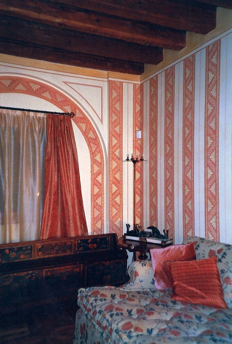decorazione pittorica finta tappezzeria