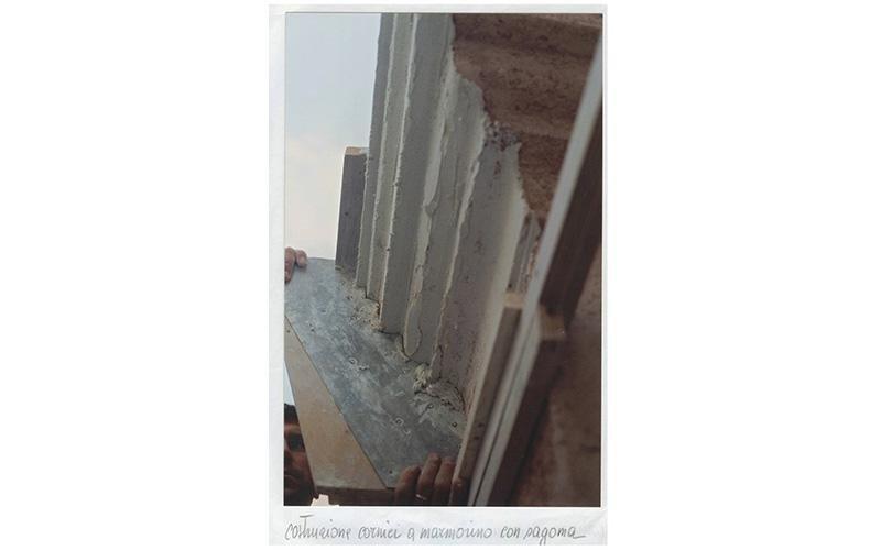 Costruzione cornici a marmorino con pagoma