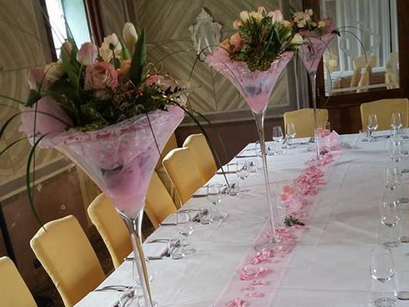 allestimento fiori ristorante valdobbiadene