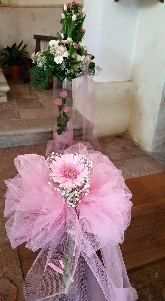 Allestimento fiori chiese battesimo