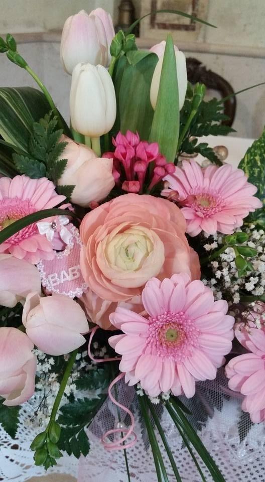 composizioni fiori battesimo