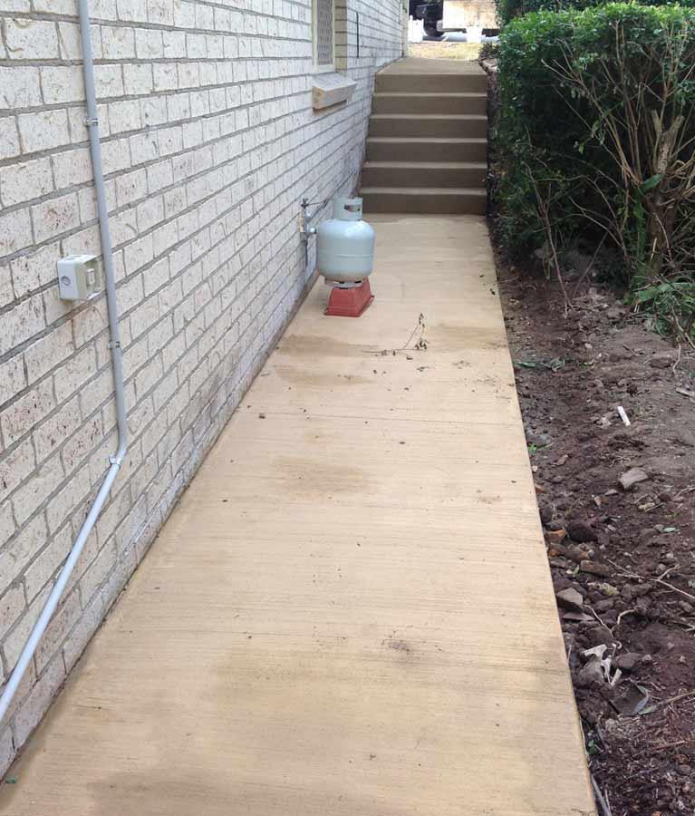 hawkins enterprises new concrete path steps