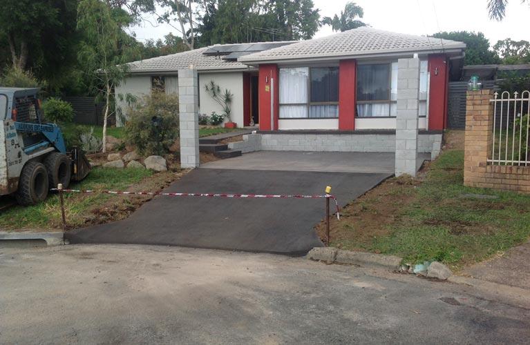 hawkins enterprises completed driveway