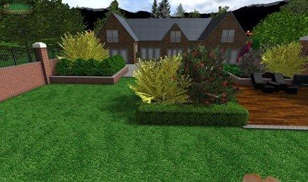 artificial lawn landscape