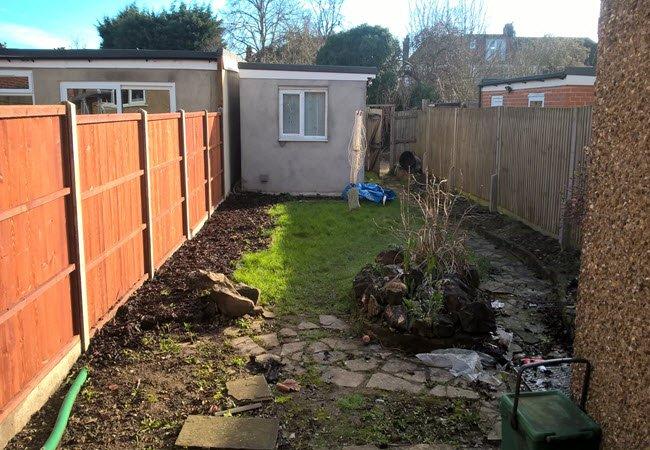 garden before landscaped design