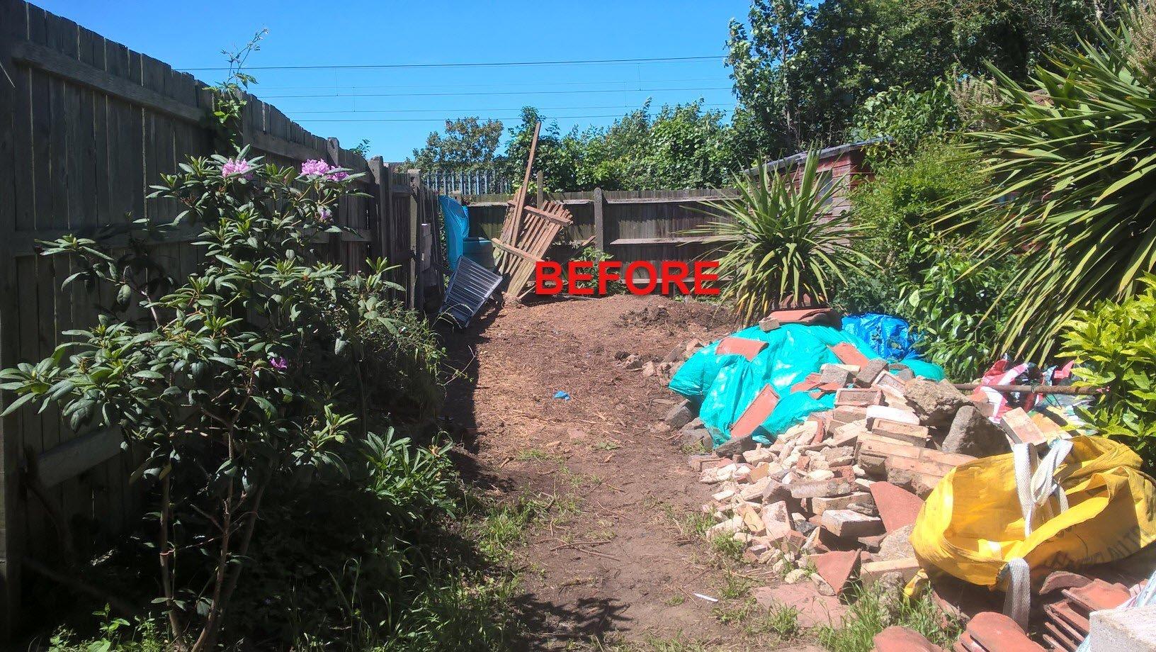 garden before office design