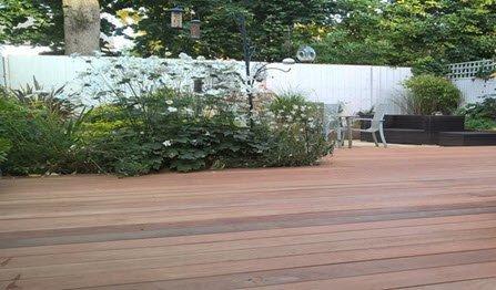 hardwood decking construction