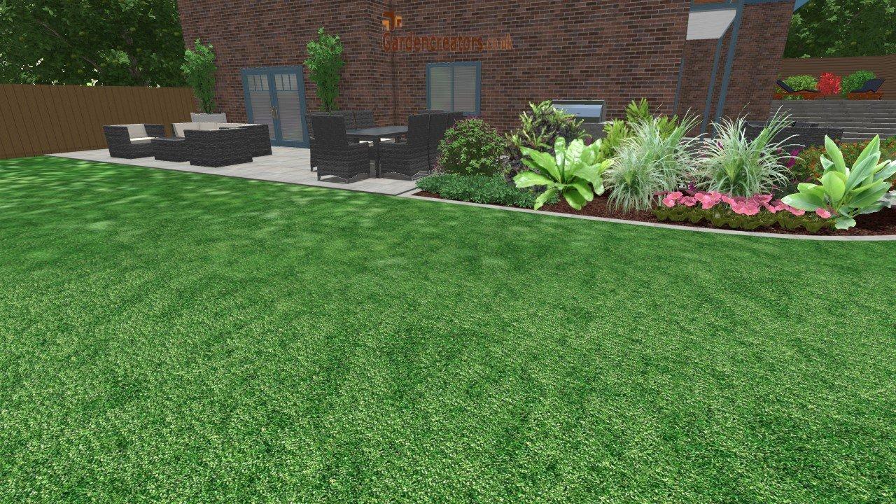 large garden design concept