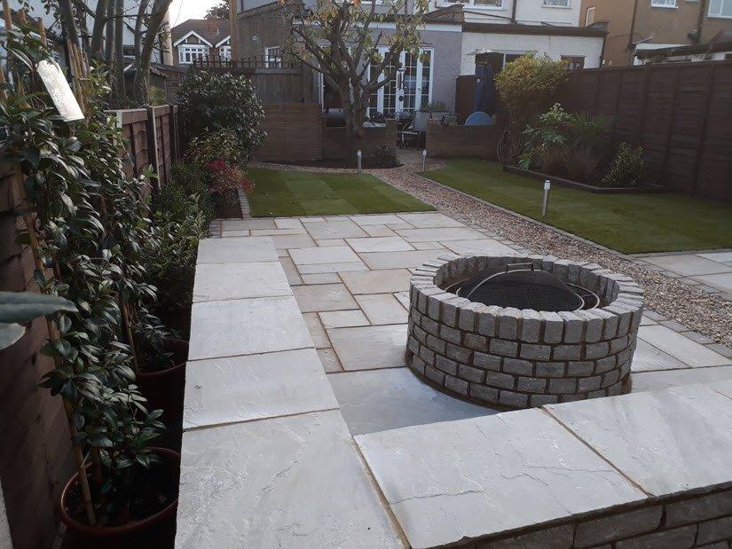 landscaped garden completed