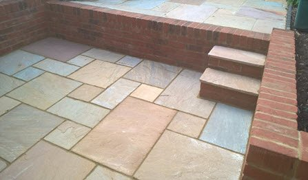 patio area paved