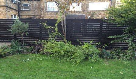 slatted fence