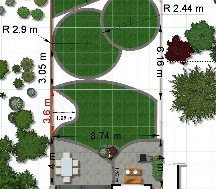 Garden Inspirations Easy To Follow 3D Plans Top View Plan