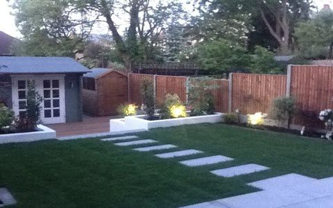 garden lights installation
