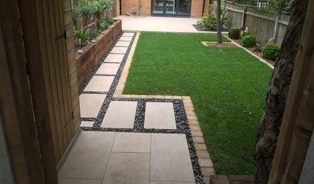 landscaped garden concept