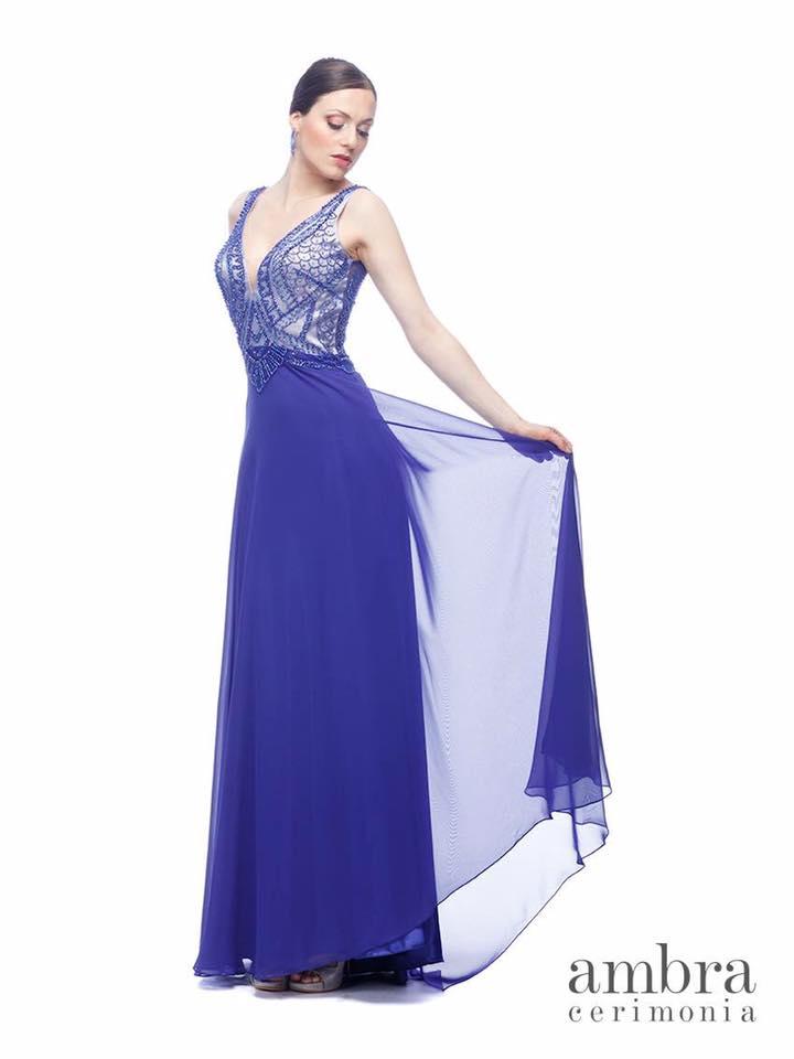 abito da cerimonia color blu da donna