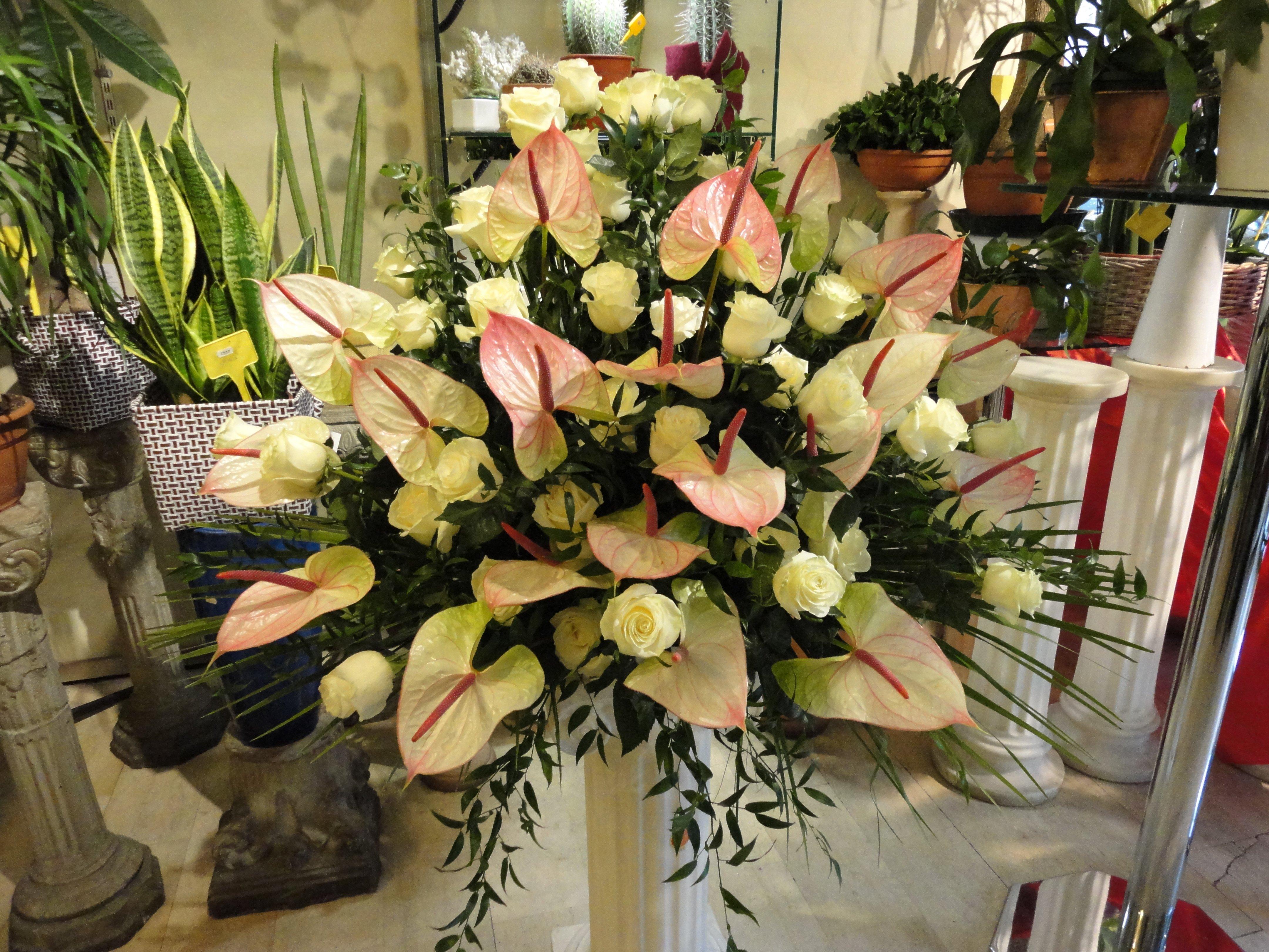 calle e ricco assortimento di fiori