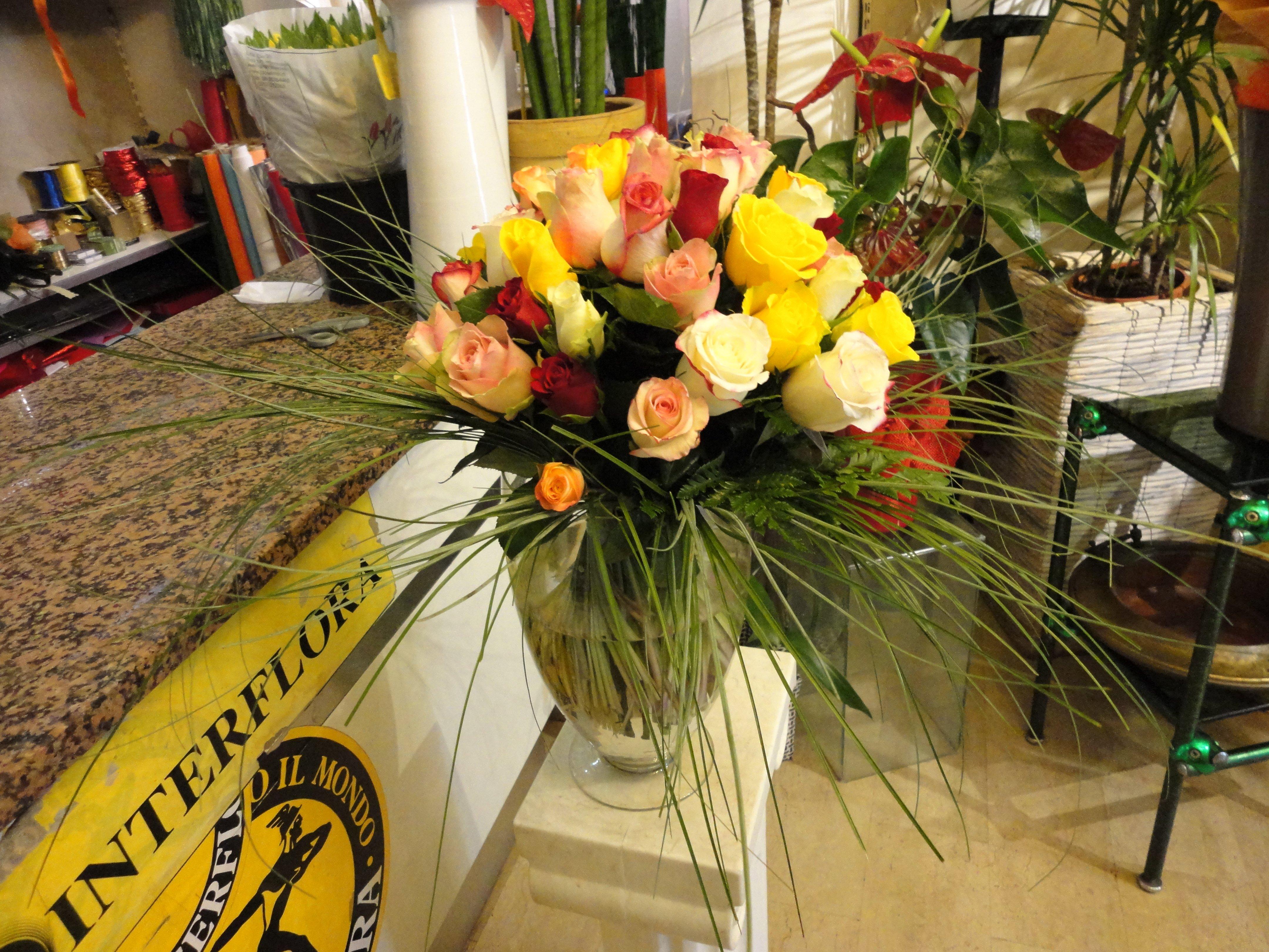composizioni fiori gialli interflora