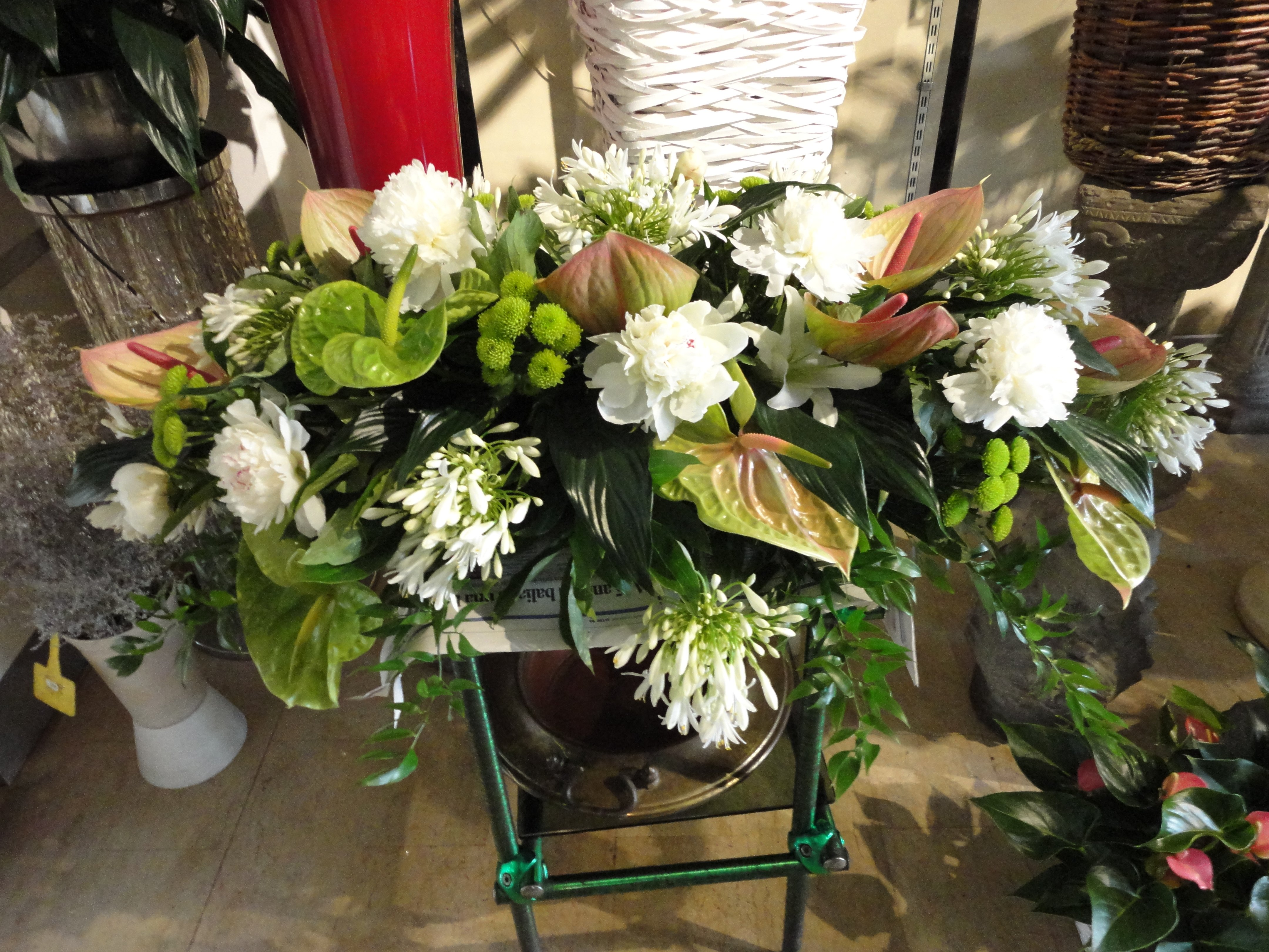 vista dall`alto composizioni di fiori
