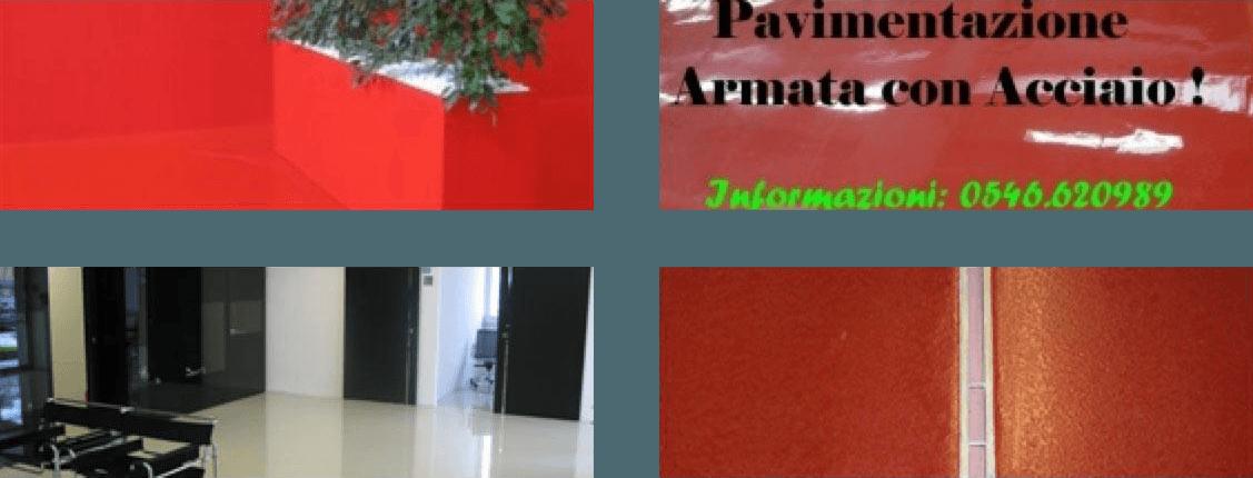 tre tipi diversi di pavimenti rossi e uno bianco