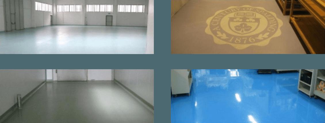 pavimenti colorati di bianco, blu e marrone