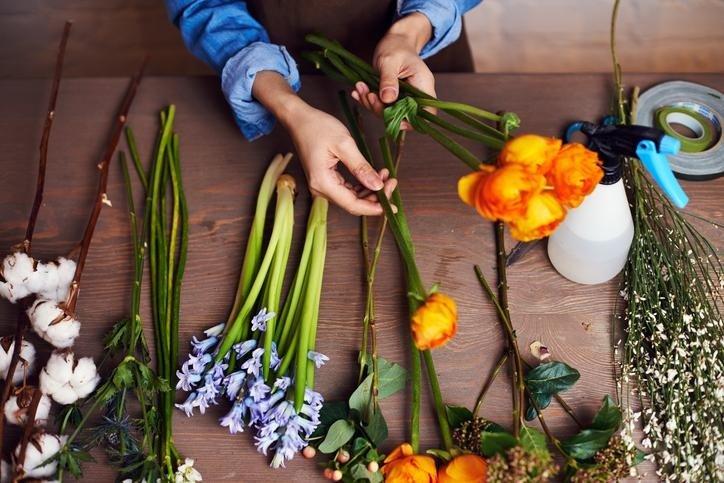 creazione mazzi di fiori