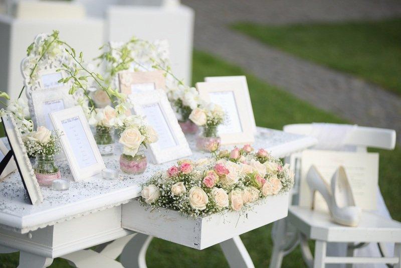 composizione floreali ad un matrimonio