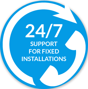 24/7 support for fixed installations icon
